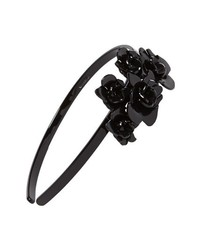 L. Erickson Giverny Rose Headband Black Black