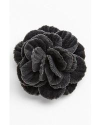 Hook Albert Velvet Flower Lapel Pin