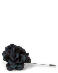 Lanvin Plaid Buttonhole Flower Pin