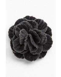hook + ALBERT Velvet Flower Lapel Pin
