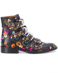 Givenchy Floral Print Ankle Boots