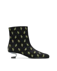 Nicole Saldaña Floral Print Boots