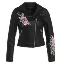 Miss Selfridge Faux Leather Jacket Black
