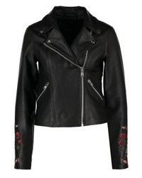 YAS Ruba Leather Jacket Black
