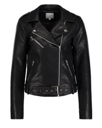Vila Viembla Faux Leather Jacket Black