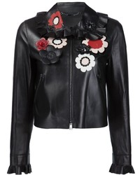 Fendi Floral Leather Jacket
