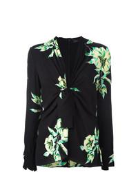Proenza Schouler Tie Front Floral Blouse