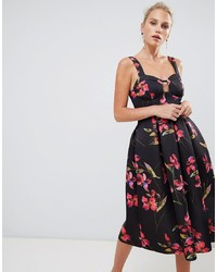 ASOS DESIGN Floral Print Midi Prom Dress