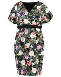 Rose leaf summer dress black medium 3841663