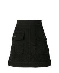 Chloé Front Pocket Floral Skirt