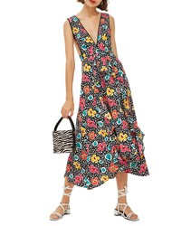 Black Floral Overall Dress