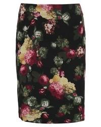 Flower pencil skirt black medium 5032753