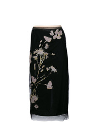 N21 floral embroidered pencil skirt medium 7975709