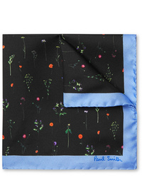 Paul Smith Floral Print Silk Twill Pocket Square