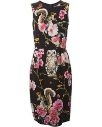 Black Floral Sheath Dress