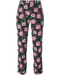 Marni Floral Print High Waist Trousers