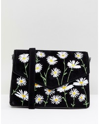 Skinnydip Rory Daisy Embroidered Cross Body Bag
