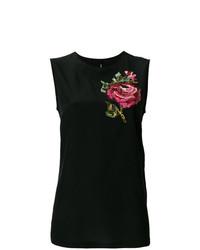 Dolce & Gabbana Rose Motif T Shirt