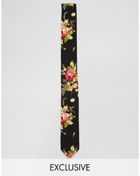 Reclaimed Vintage Floral Tie In Black