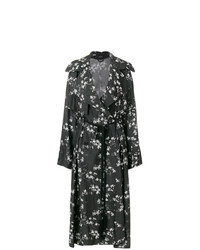 Ann Demeulemeester Floral Print Trench Coat