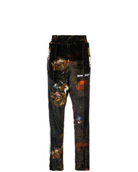 Palm Angels Printed Velvet Track Pants