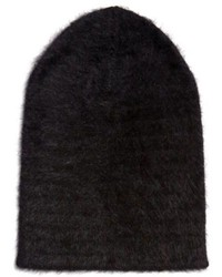 Black Fluffy Beanie