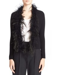 Maribou feather cardigan medium 351276