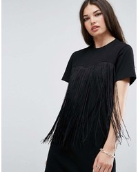 b304123a1941 Asos Mini T Shirt Dress With Fringing, £17 | Asos | Lookastic UK