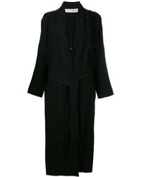 Isabel Benenato Fringed Shoulder Detail Coat
