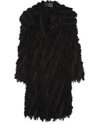 Donna Karan New York Oversized Fringed Alpaca Blend Coat