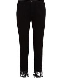 Black Fringe Jeans