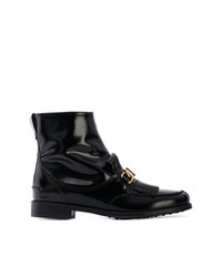 Tod's Fringe Flap Ankle Boots