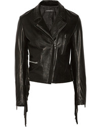 Finds Theperfext Gina Fringed Leather Biker Jacket