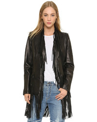 L'Agence Adelle Fringe Leather Jacket
