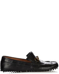 Gucci Road Jump Fringed Leather Loafers