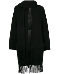 Salvatore Ferragamo Fringed Cardigan With Scarf