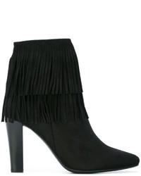 Fringed ankle boots medium 707420