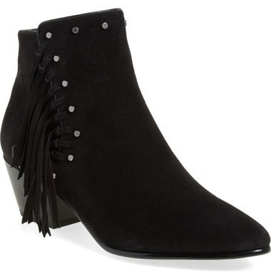 6645b11b1377e7 ... Suede Ankle Boots Sam Edelman Rudie Studded Fringe Bootie ...