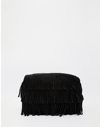Asos Collection Suede Fringe Clutch Bag