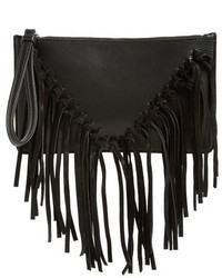 Sole Society Suede Fringe Clutch