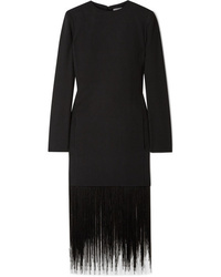 Givenchy Fringed Wool Crepe Dress