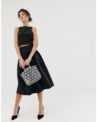 ASOS DESIGN Midi Prom Skirt In Scuba