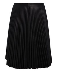 City Chic Pleated Skirt Black