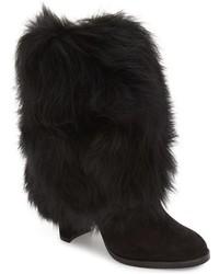 Stuart Weitzman Faux Fur Snowman Bootie