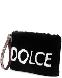 Dolce & Gabbana Cleo Fur Clutch Bag