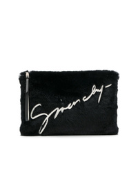 Givenchy Faux Fur Logo Clutch Bag