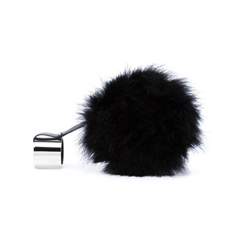 Perrin Paris Fuzzy Round Clutch