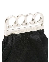 Jean Paul Gaultier Vintage Knuckle Duster Faux Fur Clutch