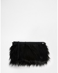 French Connection Statet Faux Fur Clutch Bag