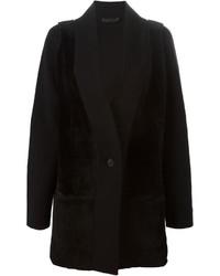 Calvin Klein Collection Fur Panel Coat